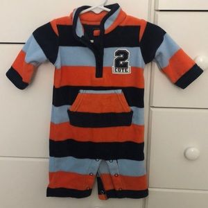 Carter's Orange and Blue 2Cute Jumpsuit